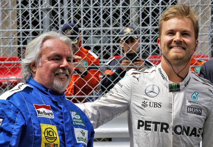 Nico Rosberg (GER) with his father Keke Rosberg (FIN)