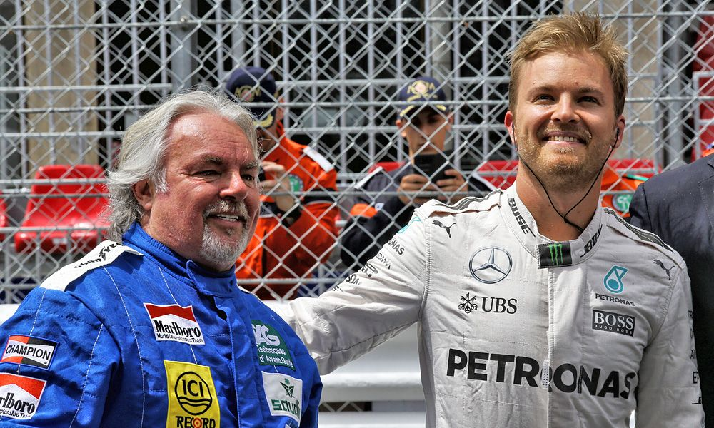 Nico Rosberg (GER) with his father Keke Rosberg (FIN)