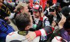 Race winner Fernando Alonso (ESP) Toyota Gazoo Racing celebrates in parc ferme at Le Mans