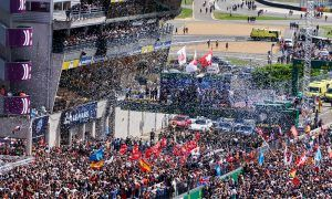 Spectacular celebrations at Le Mans' climax