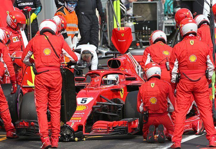 Sebastian Vettel (GER) Scuderia Ferrari 24.06.2018