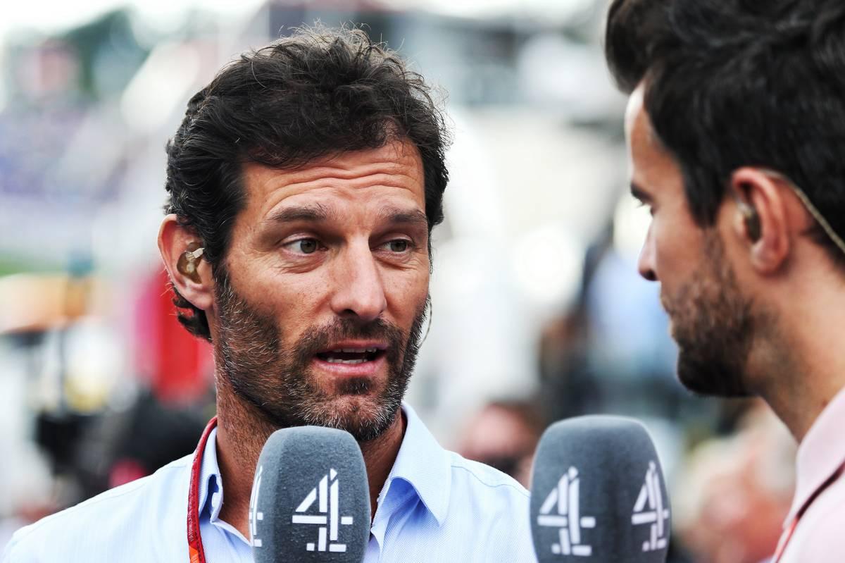 Mark Webber (AUS) Channel 4 Presenter with Steve Jones (GBR) Channel 4 F1 Presenter.