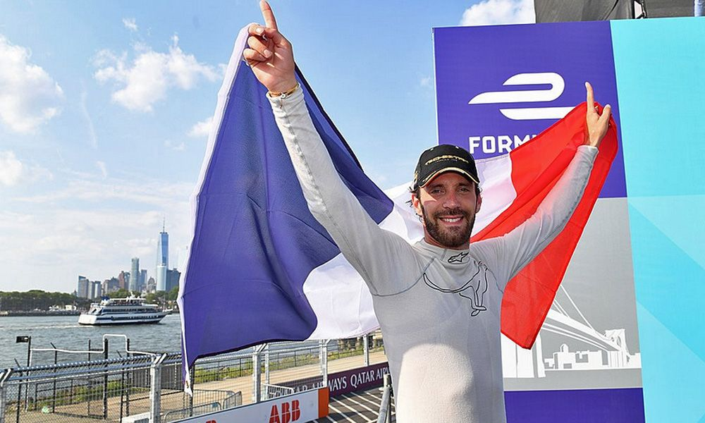 Techeetah's Jean-Eric Vergne secures the ABB FIA Formula E title in New York. July 14 2018.
