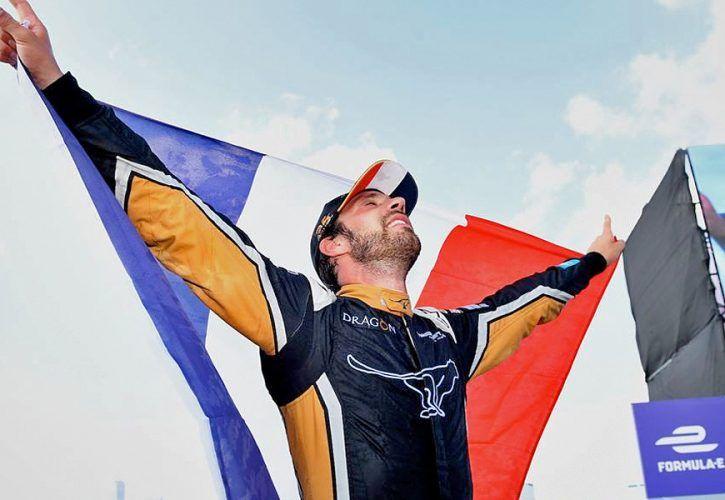 Techeetah's Jean-Eric Vergne secures the ABB FIA Formula E title in New York. July 14 2018.