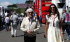 Bernie Ecclestone (GB), former Formula One Management (FOM) President and CEO and his wife Fabiana