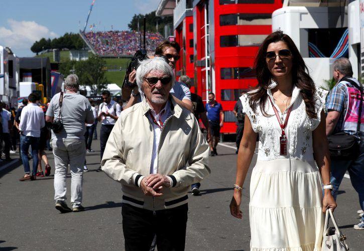 Bernie Ecclestone (GB), former Formula One Management (FOM) President and CEO and his wife Fabiana