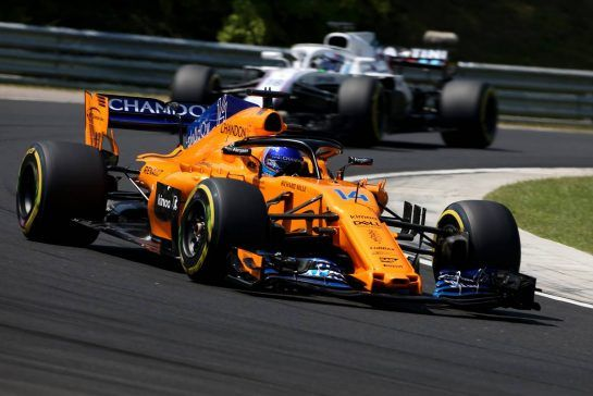 Fernando Alonso (ESP) McLaren F1 28.07.2018. Formula 1 World Championship, Rd 12, Hungarian Grand Prix, Budapest, Hungary, Qualifying Day.- www.xpbimages.com, EMail: requests@xpbimages.com - copy of publication required for printed pictures. Every used picture is fee-liable. © Copyright: Charniaux / XPB Images