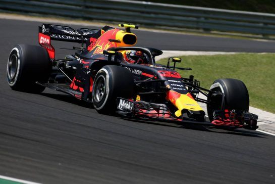 Max Verstappen (NLD) Red Bull Racing 28.07.2018. Formula 1 World Championship, Rd 12, Hungarian Grand Prix, Budapest, Hungary, Qualifying Day.- www.xpbimages.com, EMail: requests@xpbimages.com - copy of publication required for printed pictures. Every used picture is fee-liable. © Copyright: Charniaux / XPB Images