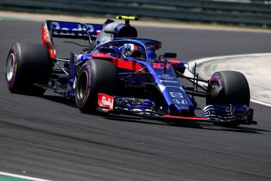 Pierre Gasly (FRA) Scuderia Toro Rosso  28.07.2018. Formula 1 World Championship, Rd 12, Hungarian Grand Prix, Budapest, Hungary, Qualifying Day. - www.xpbimages.com, EMail: requests@xpbimages.com - copy of publication required for printed pictures. Every used picture is fee-liable. © Copyright: Charniaux / XPB Images