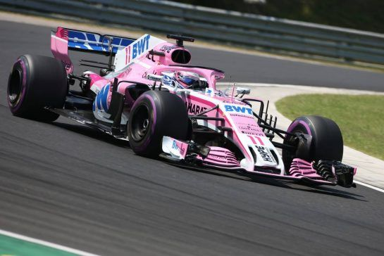Sergio Perez (MEX) Sahara Force India F1  28.07.2018. Formula 1 World Championship, Rd 12, Hungarian Grand Prix, Budapest, Hungary, Qualifying Day.- www.xpbimages.com, EMail: requests@xpbimages.com - copy of publication required for printed pictures. Every used picture is fee-liable. © Copyright: Charniaux / XPB Images