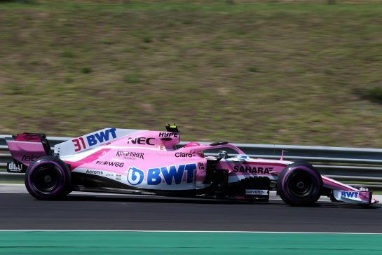 Esteban Ocon (FRA) Force India F1 28.07.2018. Formula 1 World Championship, Rd 12, Hungarian Grand Prix, Budapest, Hungary, Qualifying Day.- www.xpbimages.com, EMail: requests@xpbimages.com - copy of publication required for printed pictures. Every used picture is fee-liable. © Copyright: Charniaux / XPB Images