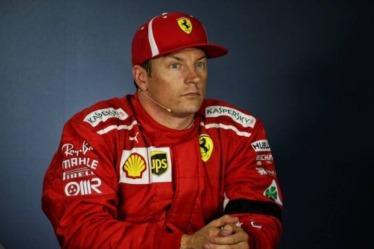 Kimi Raikkonen (FIN) Ferrari in the post qualifying FIA Press Conference. 28.07.2018. Formula 1 World Championship, Rd 12, Hungarian Grand Prix, Budapest, Hungary, Qualifying Day.  - www.xpbimages.com, EMail: requests@xpbimages.com - copy of publication required for printed pictures. Every used picture is fee-liable. © Copyright: Bearne / XPB Images
