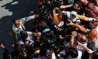 Hungarian Grand Prix ewis Hamilton (GBR) Mercedes AMG F1 celebrates