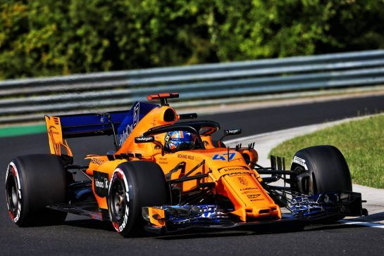 Lando Norris (GBR) McLaren MCL33 Test Driver. 31.07.2018. Formula 1 Testing, Budapest, Hungary. - www.xpbimages.com, EMail: requests@xpbimages.com - copy of publication required for printed pictures. Every used picture is fee-liable. © Copyright: Moy / XPB Images