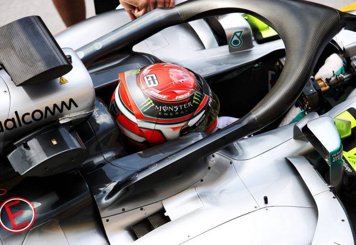 George Russell (GBR) Mercedes AMG F1 W09 Reserve Driver.