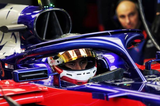 Sean Gelael (IDN) Scuderia Toro Rosso STR13 Test Driver. 31.07.2018. Formula 1 Testing, Budapest, Hungary. - www.xpbimages.com, EMail: requests@xpbimages.com - copy of publication required for printed pictures. Every used picture is fee-liable. © Copyright: Moy / XPB Images