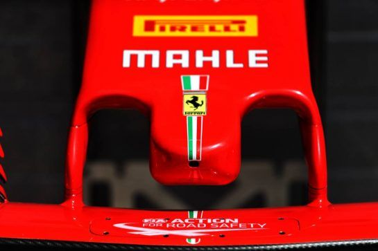 Ferrari SF71H nosecone. 31.07.2018. Formula 1 Testing, Budapest, Hungary. - www.xpbimages.com, EMail: requests@xpbimages.com - copy of publication required for printed pictures. Every used picture is fee-liable. © Copyright: Moy / XPB Images