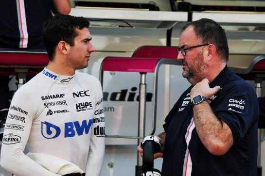 Nicholas Latifi (CDN) Sahara Force India F1 Team Development Driver with Tom McCullough (GBR) Sahara Force India F1 Team Chief Engineer. 31.07.2018. Formula 1 Testing, Budapest, Hungary. - www.xpbimages.com, EMail: requests@xpbimages.com - copy of publication required for printed pictures. Every used picture is fee-liable. © Copyright: Moy / XPB Images