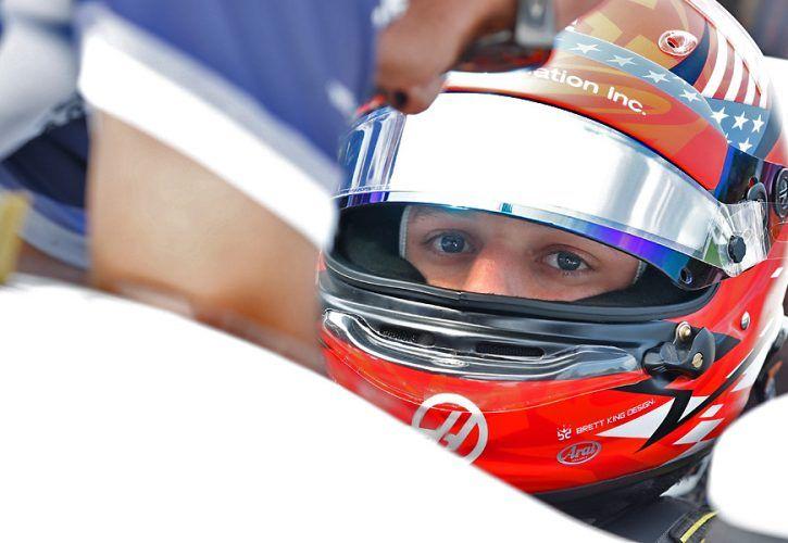 Santino Ferrucci sits in his No. 19 Paysafe Honda