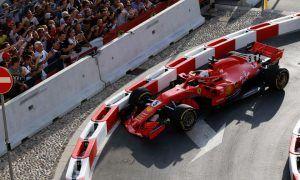 Vettel drops it at the demo!