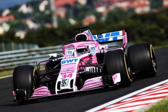 Nikita Mazepin (RUS) Sahara Force India F1 VJM11 Development Driver. 01.08.2018. Formula 1 Testing, Budapest, Hungary. - www.xpbimages.com, EMail: requests@xpbimages.com - copy of publication required for printed pictures. Every used picture is fee-liable. © Copyright: Moy / XPB Images