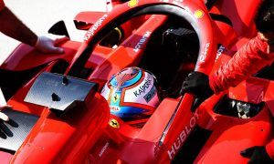 Raikkonen keeps up the pace for Ferrari in morning test