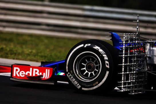 Sean Gelael (IDN) Scuderia Toro Rosso STR13 Test Driver - front wing and sensor equipment. 01.08.2018. Formula 1 Testing, Budapest, Hungary. - www.xpbimages.com, EMail: requests@xpbimages.com - copy of publication required for printed pictures. Every used picture is fee-liable. © Copyright: Moy / XPB Images