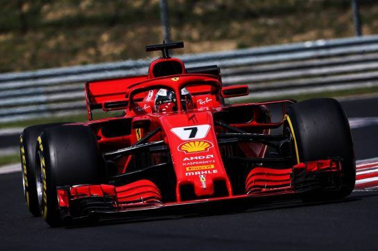 Kimi Raikkonen (FIN) Ferrari SF71H. 01.08.2018. Formula 1 Testing, Budapest, Hungary. - www.xpbimages.com, EMail: requests@xpbimages.com - copy of publication required for printed pictures. Every used picture is fee-liable. © Copyright: Moy / XPB Images