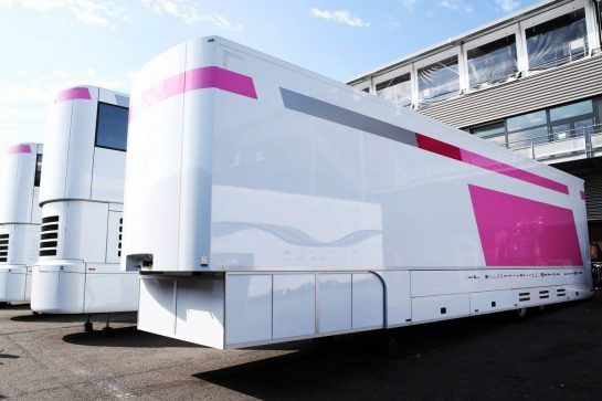 Force India F1 Team trucks in the paddock. 23.08.2018. Formula 1 World Championship, Rd 13, Belgian Grand Prix, Spa Francorchamps, Belgium, Preparation Day. - www.xpbimages.com, EMail: requests@xpbimages.com - copy of publication required for printed pictures. Every used picture is fee-liable. © Copyright: Batchelor / XPB Images