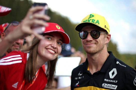 Nico Hulkenberg (GER) Renault Sport F1 Team 23.08.2018. Formula 1 World Championship, Rd 13, Belgian Grand Prix, Spa Francorchamps, Belgium, Preparation Day.- www.xpbimages.com, EMail: requests@xpbimages.com - copy of publication required for printed pictures. Every used picture is fee-liable. © Copyright: Charniaux / XPB Images