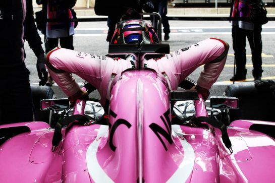 Sergio Perez (MEX) Racing Point Force India F1 VJM11. 24.08.2018. Formula 1 World Championship, Rd 13, Belgian Grand Prix, Spa Francorchamps, Belgium, Practice Day. - www.xpbimages.com, EMail: requests@xpbimages.com - copy of publication required for printed pictures. Every used picture is fee-liable. © Copyright: Batchelor / XPB Images
