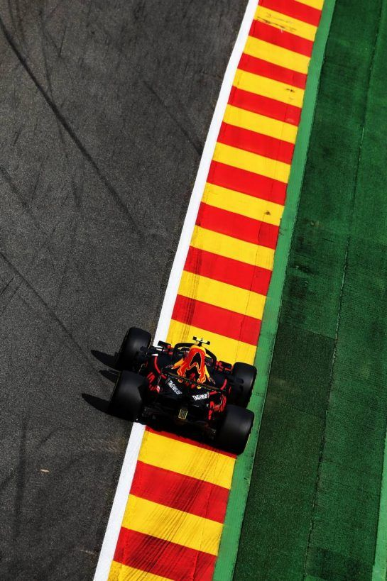 Max Verstappen (NLD) Red Bull Racing RB14. 24.08.2018. Formula 1 World Championship, Rd 13, Belgian Grand Prix, Spa Francorchamps, Belgium, Practice Day. - www.xpbimages.com, EMail: requests@xpbimages.com - copy of publication required for printed pictures. Every used picture is fee-liable. © Copyright: Moy / XPB Images