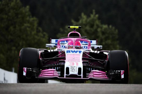 Esteban Ocon (FRA) Racing Point Force India F1 VJM11. 24.08.2018. Formula 1 World Championship, Rd 13, Belgian Grand Prix, Spa Francorchamps, Belgium, Practice Day. - www.xpbimages.com, EMail: requests@xpbimages.com - copy of publication required for printed pictures. Every used picture is fee-liable. © Copyright: Batchelor / XPB Images