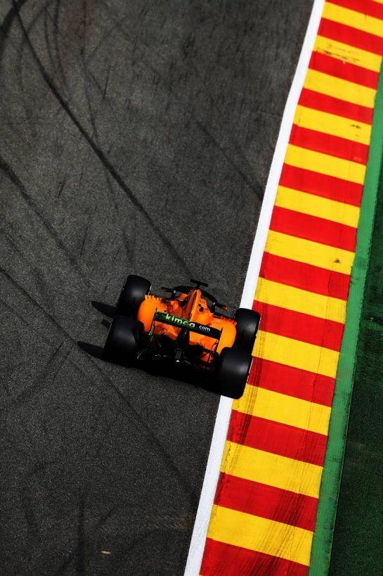 Lando Norris (GBR) McLaren MCL33 Test Driver. 24.08.2018. Formula 1 World Championship, Rd 13, Belgian Grand Prix, Spa Francorchamps, Belgium, Practice Day. - www.xpbimages.com, EMail: requests@xpbimages.com - copy of publication required for printed pictures. Every used picture is fee-liable. © Copyright: Moy / XPB Images