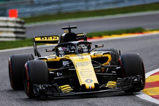 Nico Hulkenberg (GER) Renault Sport F1 Team RS18. 24.08.2018. Formula 1 World Championship, Rd 13, Belgian Grand Prix, Spa Francorchamps, Belgium, Practice Day. - www.xpbimages.com, EMail: requests@xpbimages.com - copy of publication required for printed pictures. Every used picture is fee-liable. © Copyright: Moy / XPB Images