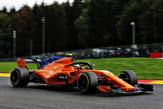 Stoffel Vandoorne (BEL) McLaren MCL33. 24.08.2018. Formula 1 World Championship, Rd 13, Belgian Grand Prix, Spa Francorchamps, Belgium, Practice Day. - www.xpbimages.com, EMail: requests@xpbimages.com - copy of publication required for printed pictures. Every used picture is fee-liable. © Copyright: Moy / XPB Images