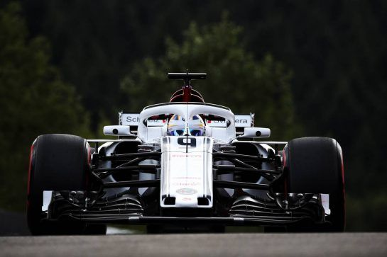 Marcus Ericsson (SWE) Sauber C37. 24.08.2018. Formula 1 World Championship, Rd 13, Belgian Grand Prix, Spa Francorchamps, Belgium, Practice Day. - www.xpbimages.com, EMail: requests@xpbimages.com - copy of publication required for printed pictures. Every used picture is fee-liable. © Copyright: Batchelor / XPB Images