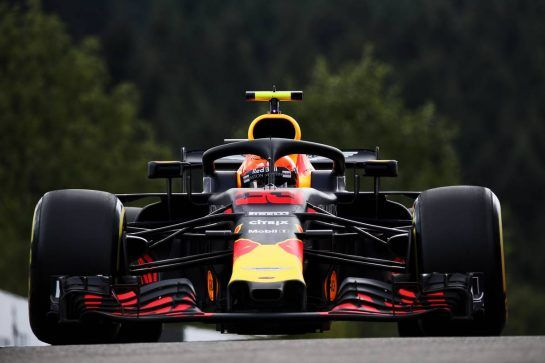 Max Verstappen (NLD) Red Bull Racing RB14. 24.08.2018. Formula 1 World Championship, Rd 13, Belgian Grand Prix, Spa Francorchamps, Belgium, Practice Day. - www.xpbimages.com, EMail: requests@xpbimages.com - copy of publication required for printed pictures. Every used picture is fee-liable. © Copyright: Batchelor / XPB Images