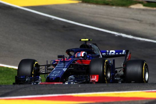 Pierre Gasly (FRA) Scuderia Toro Rosso STR13. 24.08.2018. Formula 1 World Championship, Rd 13, Belgian Grand Prix, Spa Francorchamps, Belgium, Practice Day. - www.xpbimages.com, EMail: requests@xpbimages.com - copy of publication required for printed pictures. Every used picture is fee-liable. © Copyright: Photo4 / XPB Images