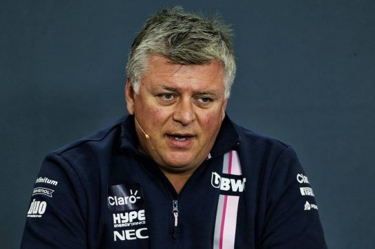 Otmar Szafnauer (USA) Racing Point Force India F1 Team Principal and CEO in the FIA Press Conference. 24.08.2018. Formula 1 World Championship, Rd 13, Belgian Grand Prix, Spa Francorchamps, Belgium, Practice Day. - www.xpbimages.com, EMail: requests@xpbimages.com - copy of publication required for printed pictures. Every used picture is fee-liable. © Copyright: Moy / XPB Images