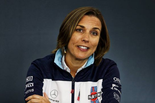 Claire Williams (GBR) Williams Deputy Team Principal in the FIA Press Conference. 24.08.2018. Formula 1 World Championship, Rd 13, Belgian Grand Prix, Spa Francorchamps, Belgium, Practice Day. - www.xpbimages.com, EMail: requests@xpbimages.com - copy of publication required for printed pictures. Every used picture is fee-liable. © Copyright: Moy / XPB Images