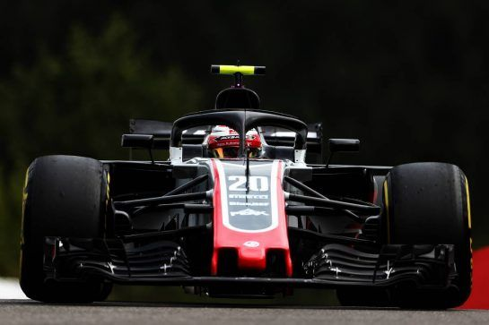 Kevin Magnussen (DEN) Haas VF-18. 24.08.2018. Formula 1 World Championship, Rd 13, Belgian Grand Prix, Spa Francorchamps, Belgium, Practice Day. - www.xpbimages.com, EMail: requests@xpbimages.com - copy of publication required for printed pictures. Every used picture is fee-liable. © Copyright: Moy / XPB Images