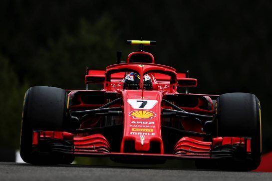 Kimi Raikkonen (FIN) Ferrari SF71H. 24.08.2018. Formula 1 World Championship, Rd 13, Belgian Grand Prix, Spa Francorchamps, Belgium, Practice Day. - www.xpbimages.com, EMail: requests@xpbimages.com - copy of publication required for printed pictures. Every used picture is fee-liable. © Copyright: Moy / XPB Images
