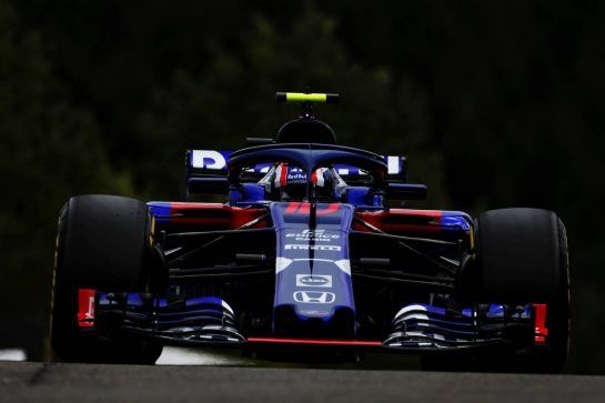 Pierre Gasly (FRA) Scuderia Toro Rosso STR13. 24.08.2018. Formula 1 World Championship, Rd 13, Belgian Grand Prix, Spa Francorchamps, Belgium, Practice Day. - www.xpbimages.com, EMail: requests@xpbimages.com - copy of publication required for printed pictures. Every used picture is fee-liable. © Copyright: Moy / XPB Images