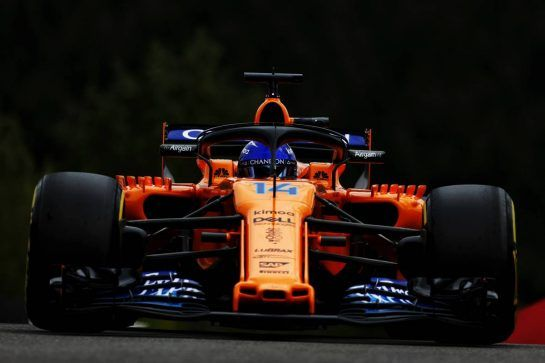 Fernando Alonso (ESP) McLaren MCL33. 24.08.2018. Formula 1 World Championship, Rd 13, Belgian Grand Prix, Spa Francorchamps, Belgium, Practice Day. - www.xpbimages.com, EMail: requests@xpbimages.com - copy of publication required for printed pictures. Every used picture is fee-liable. © Copyright: Moy / XPB Images