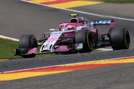 Esteban Ocon (FRA) Force India F1 24.08.2018. Formula 1 World Championship, Rd 13, Belgian Grand Prix, Spa Francorchamps, Belgium, Practice Day.- www.xpbimages.com, EMail: requests@xpbimages.com - copy of publication required for printed pictures. Every used picture is fee-liable. © Copyright: Charniaux / XPB Images