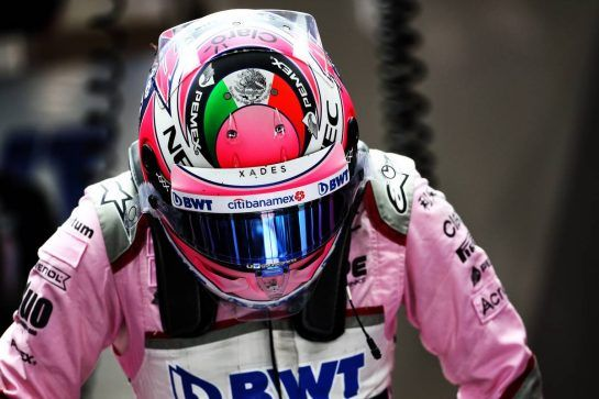 Sergio Perez (MEX) Racing Point Force India F1 Team. 25.08.2018. Formula 1 World Championship, Rd 13, Belgian Grand Prix, Spa Francorchamps, Belgium, Qualifying Day. - www.xpbimages.com, EMail: requests@xpbimages.com - copy of publication required for printed pictures. Every used picture is fee-liable. © Copyright: Batchelor / XPB Images