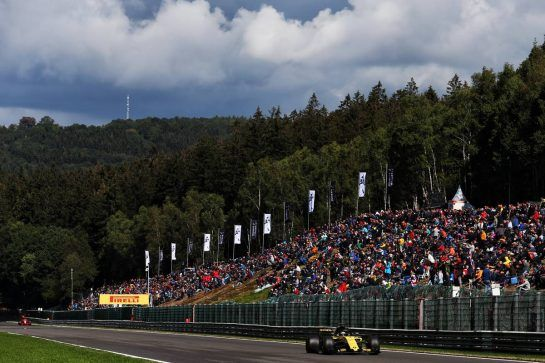 Nico Hulkenberg (GER) Renault Sport F1 Team RS18. 25.08.2018. Formula 1 World Championship, Rd 13, Belgian Grand Prix, Spa Francorchamps, Belgium, Qualifying Day. - www.xpbimages.com, EMail: requests@xpbimages.com - copy of publication required for printed pictures. Every used picture is fee-liable. © Copyright: Moy / XPB Images