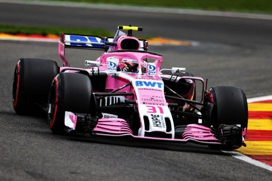 Esteban Ocon (FRA) Racing Point Force India F1 VJM11. 25.08.2018. Formula 1 World Championship, Rd 13, Belgian Grand Prix, Spa Francorchamps, Belgium, Qualifying Day. - www.xpbimages.com, EMail: requests@xpbimages.com - copy of publication required for printed pictures. Every used picture is fee-liable. © Copyright: Moy / XPB Images