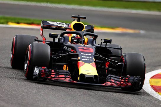 Daniel Ricciardo (AUS) Red Bull Racing RB14. 25.08.2018. Formula 1 World Championship, Rd 13, Belgian Grand Prix, Spa Francorchamps, Belgium, Qualifying Day. - www.xpbimages.com, EMail: requests@xpbimages.com - copy of publication required for printed pictures. Every used picture is fee-liable. © Copyright: Moy / XPB Images